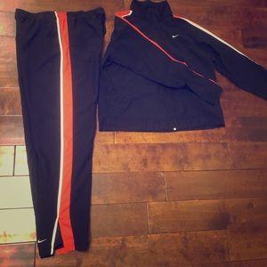 Athletic Nike Matching Windbreaker Set